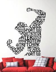 Gym Decoration Pictures Fitness Wall Decal Gym Vinyl Stickers Sports Room  Decor Home Interior Sport Wall