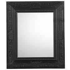 mirror photo frame. lido ornate black bevelled mirror photo frame