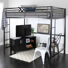 full size junior loft bed black