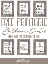 Caluya design | free svg. Printable Bathroom Signs Svgs The Girl Creative