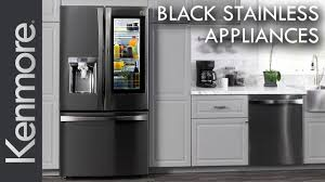 How To Clean Black Appliances New Kenmore Black Stainless Steel Kitchen Appliances Youtube
