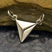 jewelry supplies small triangle pendant silver links