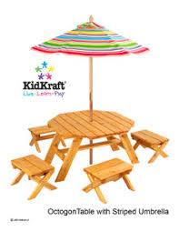 Childrens Outdoor Furniture Table 2 Bench Set  Parasol Kids Childrens Outdoor Furniture With Umbrella