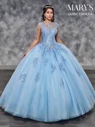 Light Blue Quince Dress Mq2029 Marys Quinceanera Quinceanera Dresses Quince