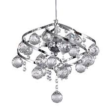 dinggu modern chrome finish iron crystal chandelier pendant lighting for kitchen island and dining room