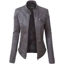 leather jackets for women le3no womens pu faux leather zip up biker moto jacket 170
