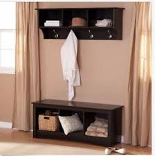 Cubby Wall Organizer With Coat Rack Entryway Bench Shelf Mudroom Wood Set Cubby Black Coat Rack Wall 22