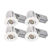 luxlite 5 in recessed led lighting kit 4 pack
