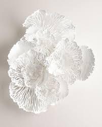 large white flower wall art