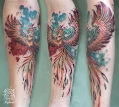 Pták Ohnivák Medusa Tattoo Originální Tetování Frýdek Místek