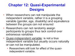 Experimental Vs Quasi Experimental Design Quasi Independent Variable