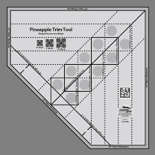 20 best creative grid ruler quilts images on Pinterest   Patterns ... & Creative Grids Pineapple Trim Tool - Create perfect or finished Pineapple  blocks by squaring up each round of strips as you go. Adamdwight.com