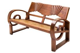 art deco outdoor furniture. Art Deco Bench In Solid Hand Carved Burmese Teak Wood. One Of Our Limited Edition Signature Pieces. Outdoor Furniture R