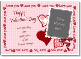 valentine s day photo card template