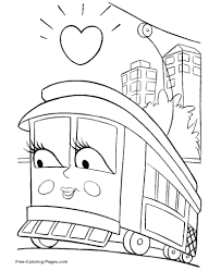 Small Picture Train Coloring Pages