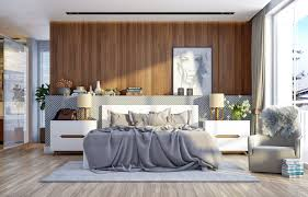 inspiring ways to make a statement with wood in the bedroom picture of modern wall art