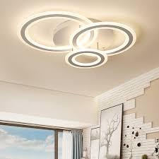 modern lighting led 3 rings semi flush