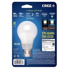 cree ba19 08027omb 12de26 3 1 60w equivalent 2700k a19 led light bulb with 4flow filament design soft white com