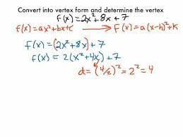 changing a quadratic function into