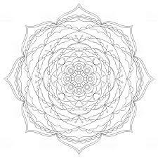 Bloem Circulaire Mandala Voor Volwassenen Kleurplaat Ontwerp Van De