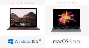 microsoft surface laptop vs inch apple macbook pro operating system