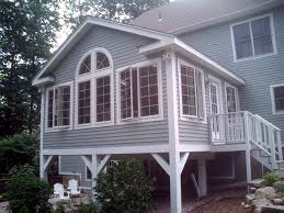 Sunroom Designs 1st Floor Sunroom To Deck Over Walkout Basement My Dream Home