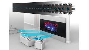 home theater system setup. building a kick-arse home theatre requires lots of money and space for speakers, amps other equipment. but thx wants to replace all that with their theater system setup u