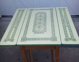 Superb 1930u0027s 1940u0027s Vintage Porcelain Enamel Slide Out Side Leaves Kitchen Table