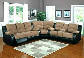 tan microfiber sectional couch sofa master furniture two tone home improvement scenic leather hom
