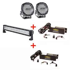 illuminator 7 round led driving lights pair 22 led light bar illuminator 7 round led driving lights pair 22 led light bar