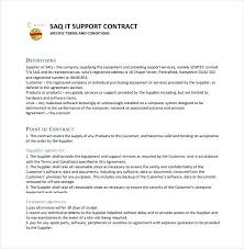 Software Support Contract Example Software Maintenance