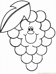 Free Fruit Coloring Pages Apple Pineapple Watermelon Etc
