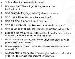 life in winter garyandbasia bereavement questions001