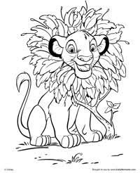Small Picture Free Printable The Lion King Coloring Pages Earlymomentscom
