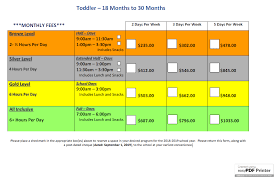 Pa Truck Registration Fee Chart After School Care Pickering Programme Overview Fees