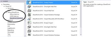 Microsoft Sharepoint Templates Sharepoint 2010 2013 And 2016 Project Templates In Visual Studio
