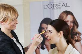singer lena meyer landrut with a l oreal makeup artist photo vittorio