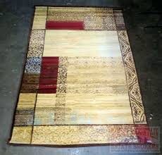 lot new modern earth tone color block area rug rugs