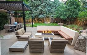 modern patio floor.  Patio Modern Patio With Corner Bench And Wooden Sofa Furniture For Ideas  Inspirations 1 Floor R