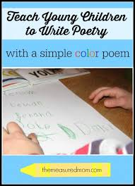 teach children to write poetry with a simple color poem find a plete lesson at