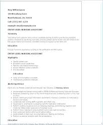 Sample Resume Nursing Resumes For Sample Resume Nursing Assistant