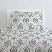 gray moroccan damask duvet cover