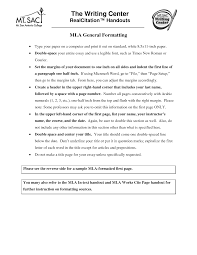 011 Mla Format Essay Heading Writing Tricks How To Set Your Paper In