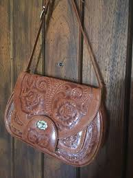 mexican leather hand tooled bag