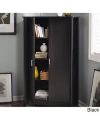 tall black storage cabinet. Bush Furniture Aero Tall Storage Cabinet With Doors In Pure White (Black) Black Better Homes And Gardens