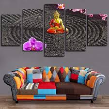 With frame or no frame #home #decor #homeddecor #artwork #artprints #canvasprints. 2021 5 Panels Canvas Wall Art Buddha Art Flower Paintings Poster Print On Canvas Oil Painting Pictures Wall Artworks From Home Textiles 18 68 Dhgate Com