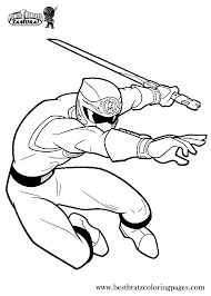 Printable Power Rangers Samurai Coloring Pages