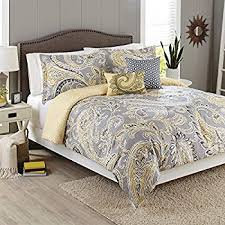 Image Gardens Better Homes And Gardens 5piece Bedding Comforter Set Yellow Grey Paisley Size Amazoncom Amazoncom Better Homes And Gardens 5piece Bedding Comforter Set