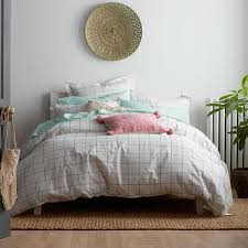 cstudio home by the company grid geometric organic queen duvet cover