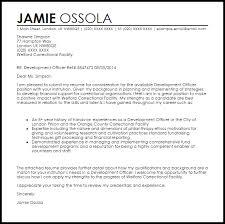 Volunteer Cover Letter Samples Development Officer Cover Letter Sample Cover Letter Templates